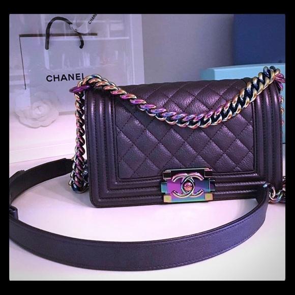 5f4a93a8a99140 CHANEL Handbags - Chanel Boy Rainbow Small Iridescent Leather Bag